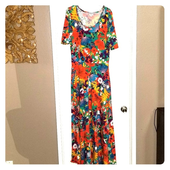 LuLaRoe Dresses & Skirts - LuLaRoe Ana Maxi Dress - Bright Floral